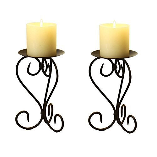 Wrought Iron Table Candle Holder
